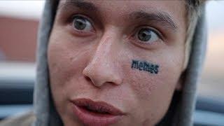 Skater Gets Face Tattoo