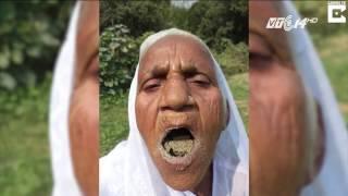 (VTC14)_Cụ bà tiết lộ bí quyết sống khỏe nhờ ăn cát mỗi ngày
