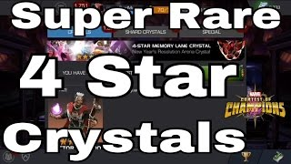 3x 4 Star Memory Lane Crystals   Marvel Contest Of Champions