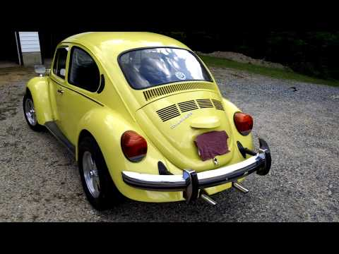 1974 Super Beetle Review, Startup And Walk Thru.