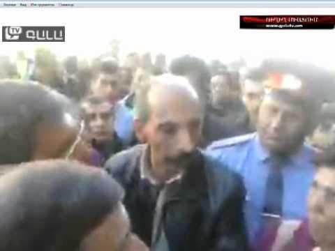 Առեւտրականների բողոքի ակցիան  Գյումրիում 2