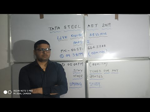 TATA STEEL AET 2019 || LIVE DOUBT SESSION PART-2 || RESULT Q