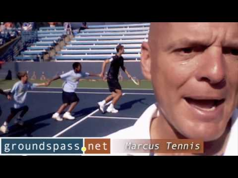 Marcus Tennis reporting during the Western &amp; Southern Financial Group Women&#039;s Open &amp; Masters tennis event in Mason, Ohio.