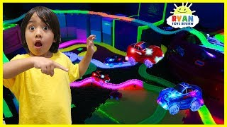 Magic Tracks Remote Control Toy Cars Challenge!!! As Seen on TV Toys Unboxing