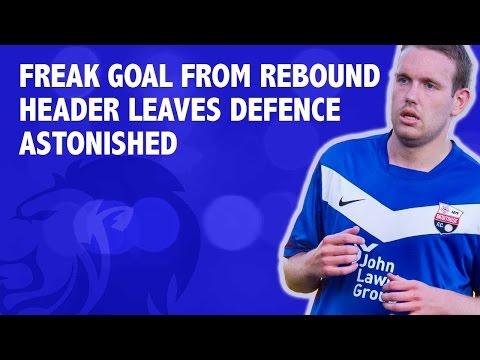 Freak goal from rebound header leaves defence astonished