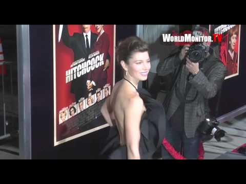 Jessica Biel arrives at Fox Searchlight Pictures Hitchcock Los Angeles premiere