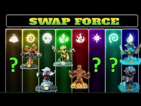 Skylanders: Swap Force Characters Revealed! - Rollerbrawl. wash buckler. magna charge