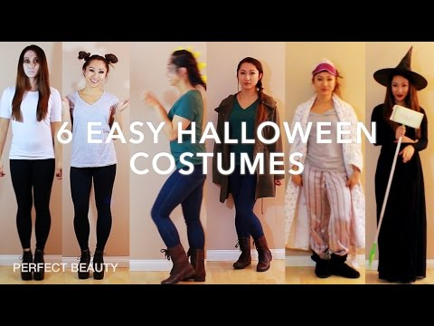 6 EASY DIY HALLOWEEN COSTUMES w/ITEMS YOU ALREADY HAVE! PERFECT BEAUTY