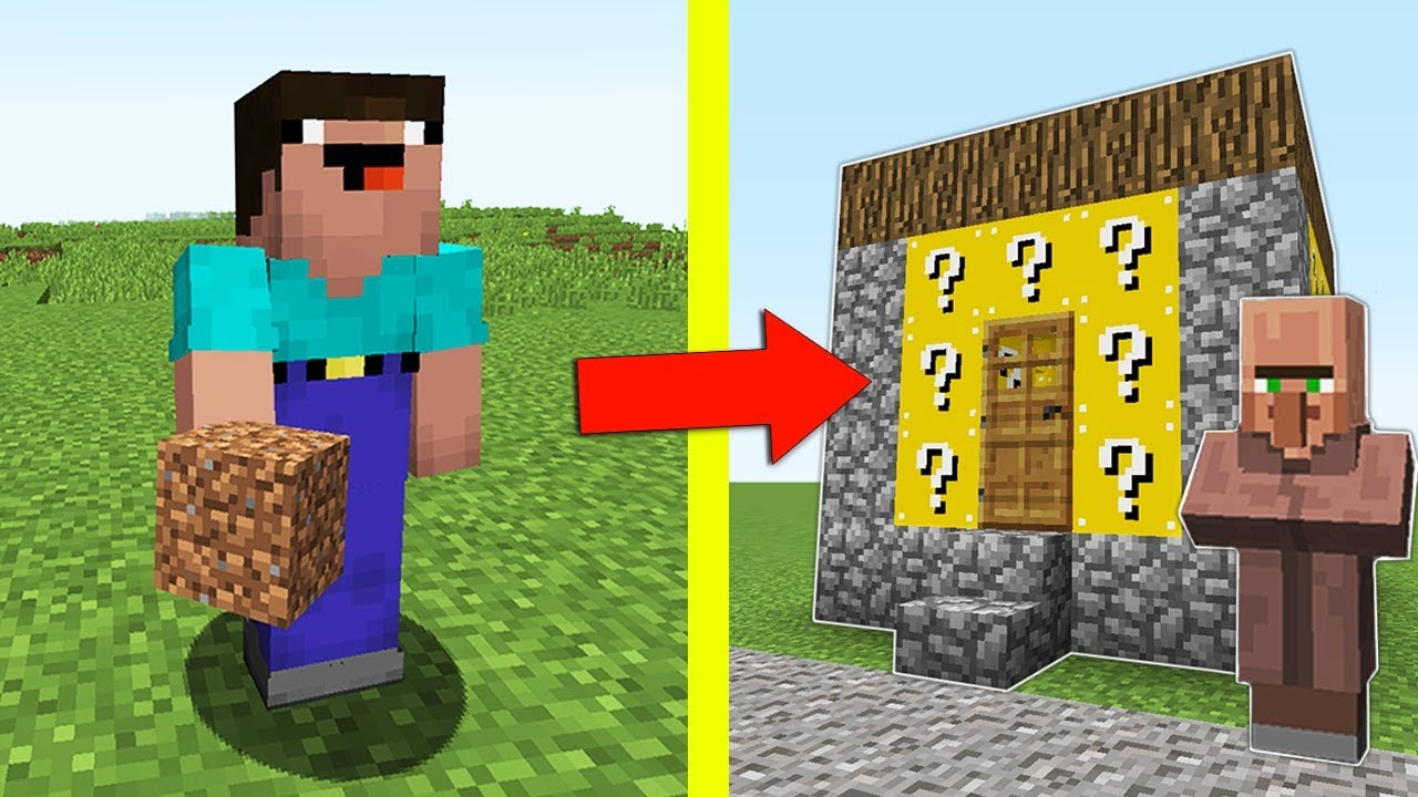 Как сделать жителя из блоков 580