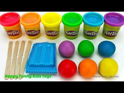 Fun Making Ice Cream Popsicle with Play Doh and Surprise Toys Shopkins Happy Places