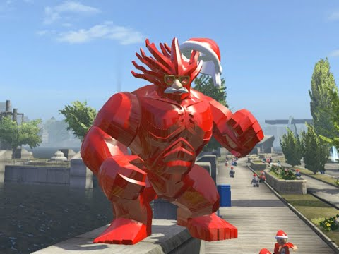 LEGO Marvel Superheroes - RED GROOT FREE ROAM GAMEPLAY (MOD SHOWCASE)