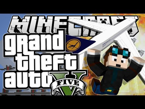 Minecraft   Grand Theft Auto (GTA)   PLANE STUNTS!   Mods Showcase [Funny Moments]