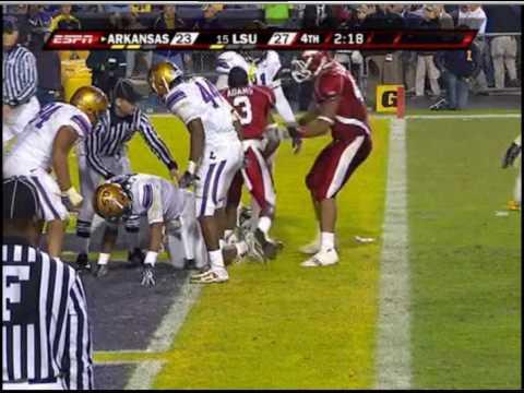 "LSU vs Arkansas '09 - ""The Hit"" (Old)"