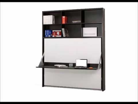 Murphy bed desk the awesomer for Letto hemnes usato