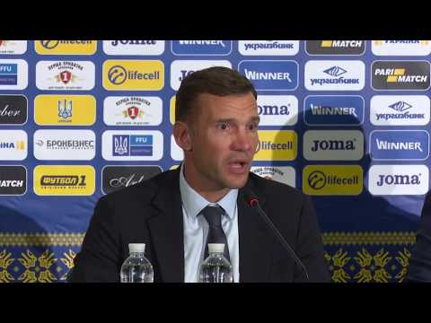 Прес-конференція Андрія Шевченка після матчу Україна - Туреччина