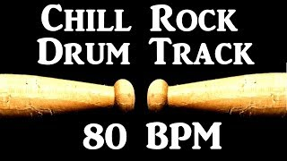 Chill Groove Drum Track 80 BPM Guitar Backing Beat Drums Only #303