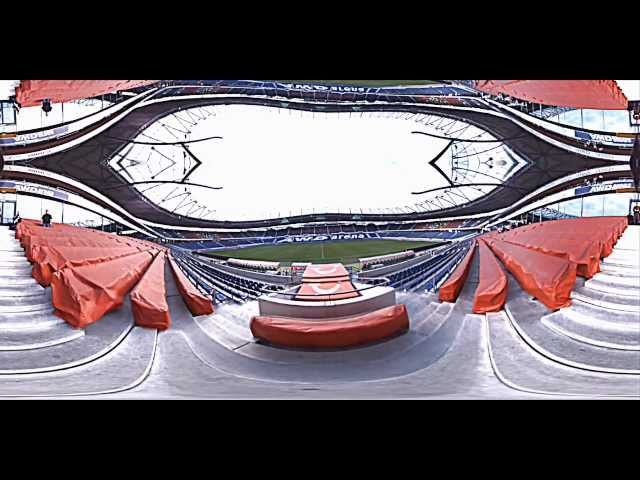 360 HDR Video of Hannover 96 soccer stadium mirrored
