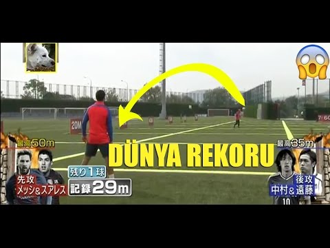 Lionel Messi ve Luis Suarez'den Uzun Pas Rekoru Denemesi! [56 Metre] • HD