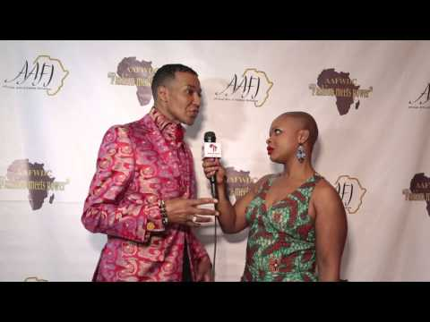 African fashion week at the Embassy of Nigeria with Dwigtht Eubanks