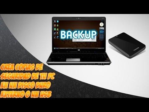 Como hacer copias de la pc en un disco duro externo o en un USB
