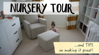 Nursery Tour and Tips | How to make a functional nursery