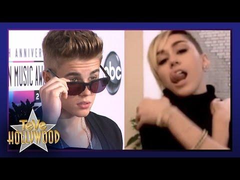 Miley Broma a Bieber, Justin Busca Latina Para Video Musical