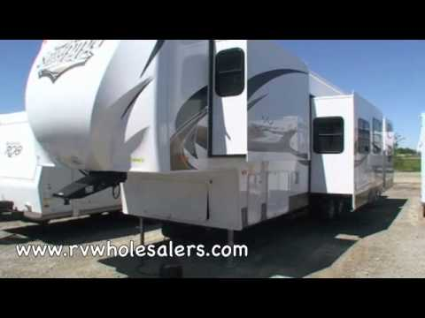 2011 Sandpiper 355QBQ Fifth Wheel Camper at RVWholesalers.com 025072 - Satin