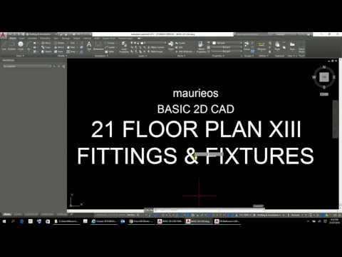 maurieos BASIC 2D CAD 21 FLOOR PLAN XIII FITTINGS AND FIXTURES