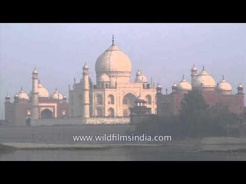 Iconic shot: Taj Mahal on banks of Yamuna River