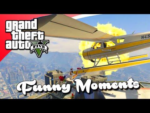 GTA V Funny Moments - VLIEGENDE AUTO GLITCH, PANTO IN VRACHTWAGEN (GTA 5 Online)