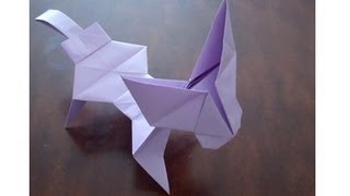 Origami - How To Make A Dog