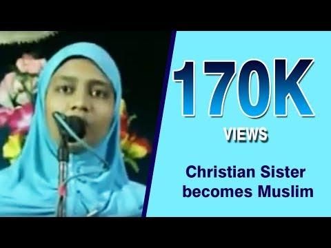 Islamic Videos : Christian Sister Becomes Muslim -  Tamil video