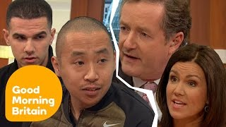 Creepy Clown Pranksters Clash With Angry Piers Morgan In Fiery Interview | Good Morning Britain