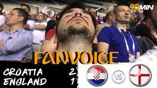 Croatia 2-1 England | England heartbreak as Croatia reach World Cup Final | 90min FanVoice