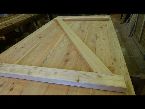 Brettertüre mit Versatz selber herstellen, Building a batten wood door with step joint