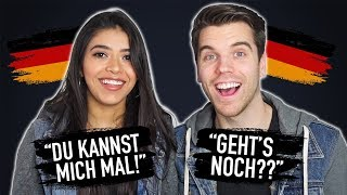 I taught her to sound like a native German speaker.. and she was shocked!!