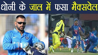 Download India Vs Aus 2nd ODI: MS Dhoni removes Maxwell with his trick behind stumps | वनइंडिया हिंदी 3Gp Mp4