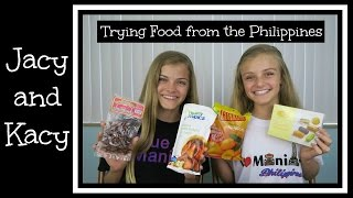 Trying Food from the Philippines ~ Jacy and Kacy