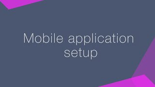 How to set up mobile application for bpm'online CRM