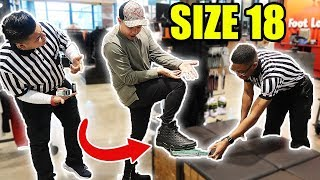 THE $500 FOOTLOCKER CHALLENGE!!