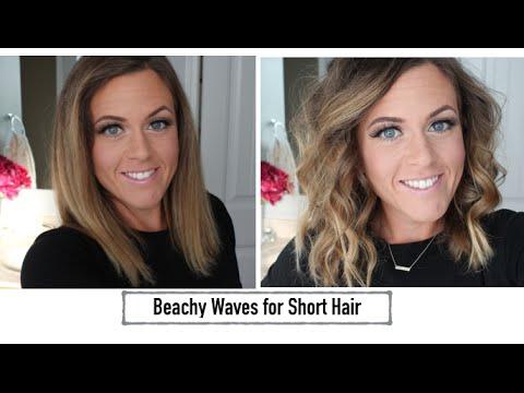 Hair Tutorial: Beachy Waves for Short Hair