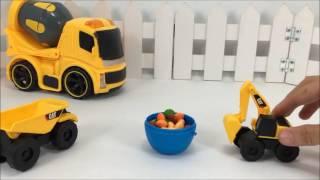 Xe công trình đồ chơi | Xe xúc xúc kẹo cho xe ben