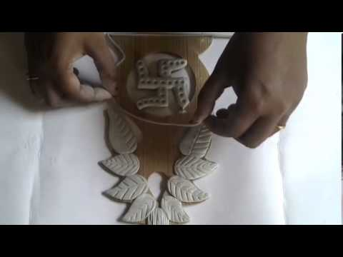 Clay work kalasam mural youtube for Clay mural making