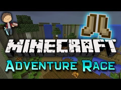 Minecraft: Adventure Race Parkour Mini Game w Mitch