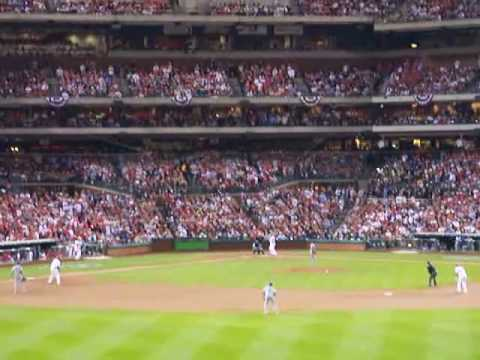 Jayson Werth Hits 3 Run Homer Vs. Dodgers 10-21-09 Video
