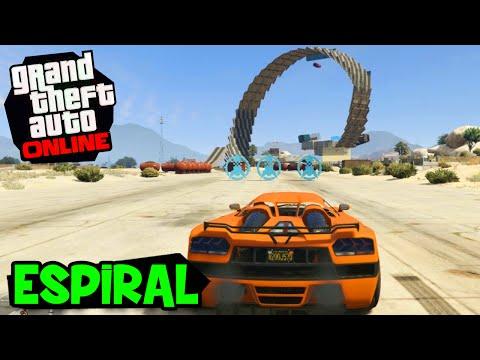 MEGA RAMPA ESPIRAL!! (c/ Lugin) - GTA V Online (PC)