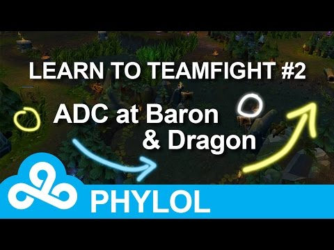 Learn to teamfight #2 : ADC positioning at Baron and Dragon