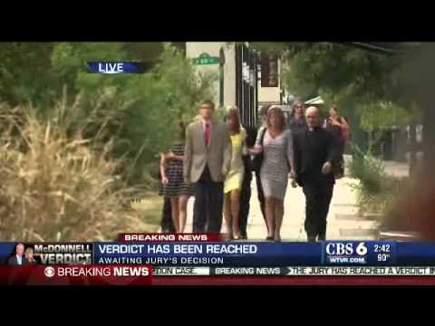 WATCH: Bob McDonnell walks into court to hear verdict
