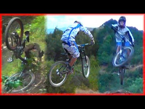 descenso saltos y porraso HD en Bicicleta en la pista de Rinconada de Parral (Coltauco, Chile)