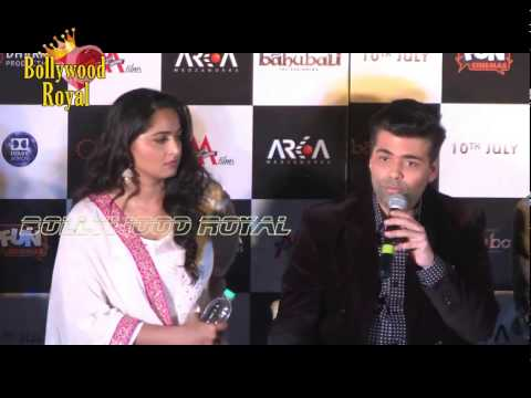 Rana Daggubati,Tamannaah,Anushka & Karan Johar at Trailer Launch of  'Baahubali'  3